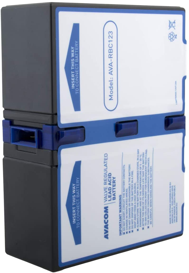 AVACOM Ava-RBC123 replacement battery for APC: RBC123 battery for UPS - consists of the long brand premium batteries