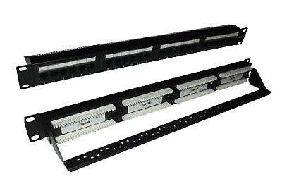 APC CAT 6 patch panel, 24 port RJ45 to 110 568 A/B color coded