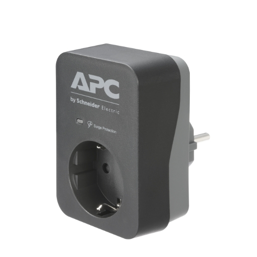 APC Essential SurgeArrest 1 Outlet Black 230V Germany